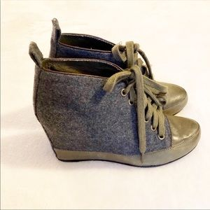 Anthropologie | 7 For All Mankind wedge shoes 6M